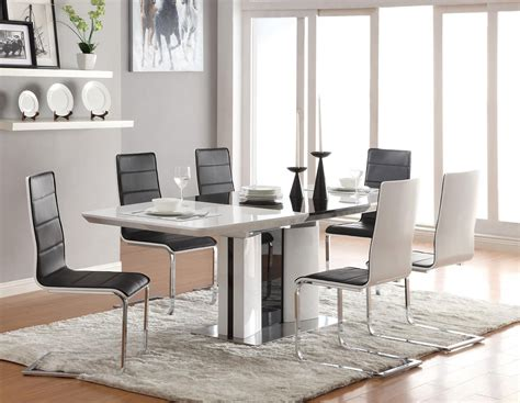 white and black dining room sets contemporary dining room sets for beloved family traba homes
