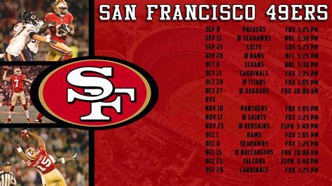 Calendario 49ers 2015 Niners Schedule 2015