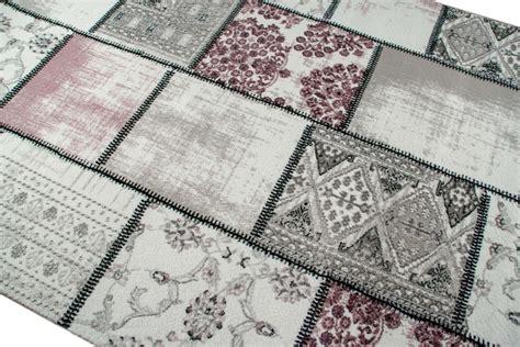 grauer teppich läufer edler stilista tappeto tappeto moderno tappeto patchwork