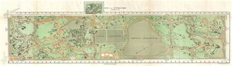 Map Of Central New York by Maps Of Central Park New York City Historical Blog