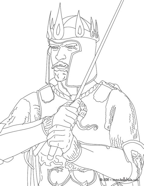 coloring pages of king arthur king arthur coloring pages hellokids com
