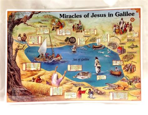 The Miracles Of Jesus miracles of jesus in galilee 2 sided placemat yardenit