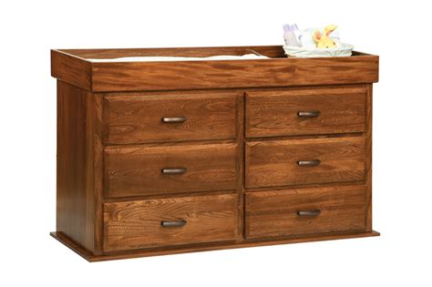 Changing Table That Converts To Dresser by Town Oak Reversable Changing Table 6 Drawer Dresser