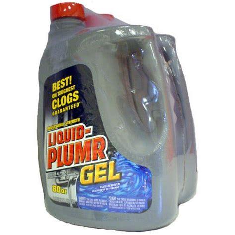 liquid plumr bathtub liquid plumr gel clog remover 2 pack 80 oz jugs