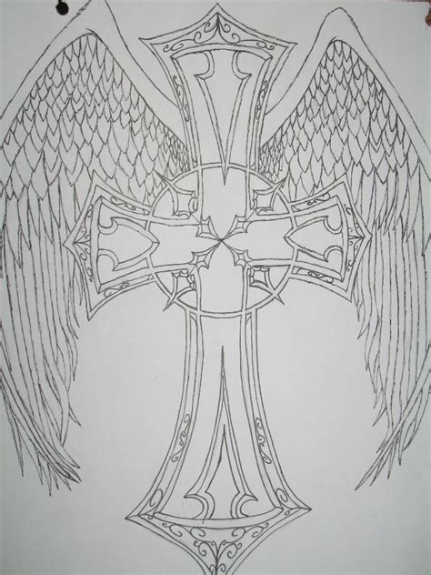 angel wing tattoo designs free designs free cross with
