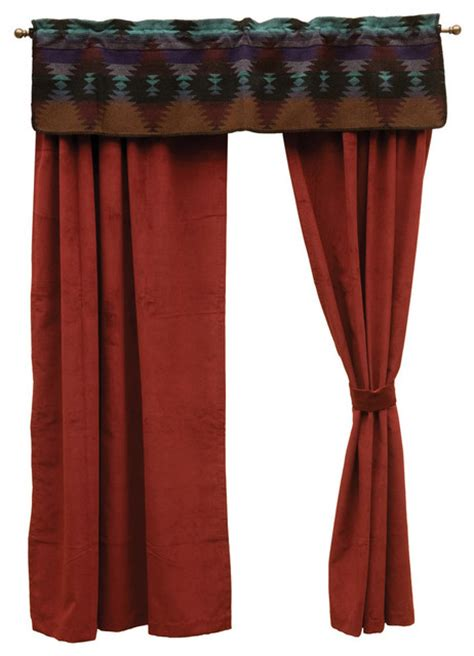 southwestern drapes painted desert drape set southwestern curtains by