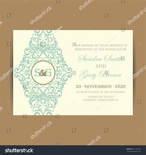 Beautiful Wedding Invitation Cards by Beautiful Wedding Invitation Card Stock Vector 351159065
