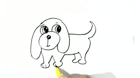 draw easy dog  easy steps  children