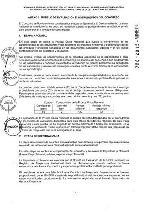 concurso para ascenso de primero a segunda escala 2016 concurso de ascenso a segunda escala magisterial