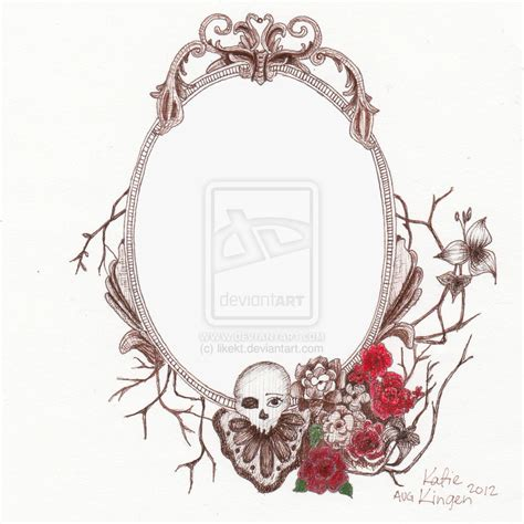 frame tattoo antique frame drawing www imgkid the image kid has it