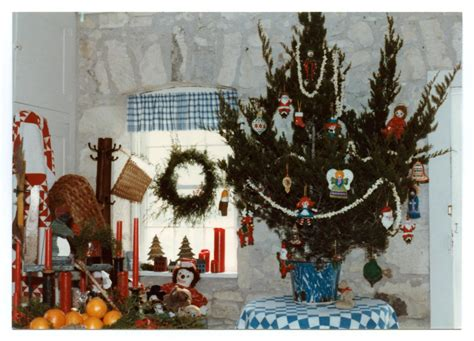 photograph of christmas decorations in the pioneer museum