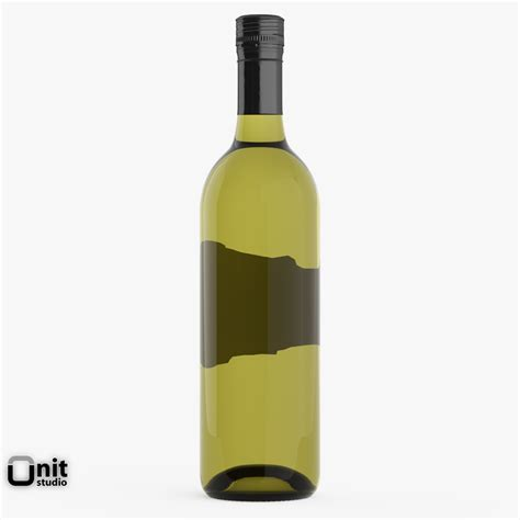 wine bottle chardonnay white wine bottle 3d model max obj 3ds fbx dwg