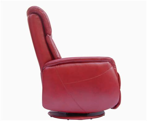 swivel recliner chairs leather ramsey red bonded leather swivel recliner chair