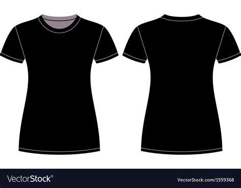 Black T Shirt Design Template Royalty Free Vector Image Shirt Template Vector