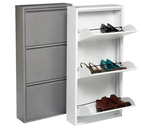 Garage Cabinets For Shoes 3 Drawer Shoe Cabinet Contemporary Closet Storage By