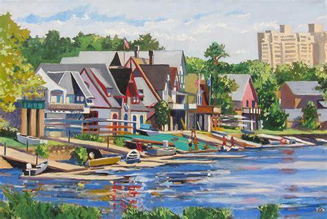 philadelphia boat house row philadelphia boathouse row 1 painting by david a fox