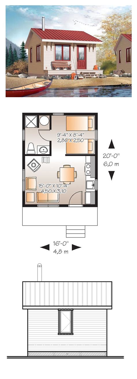 small cabin floor plans guest cottage pinterest best 25 1 bedroom house plans ideas on pinterest guest