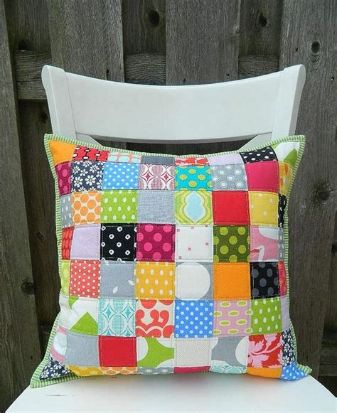 Simple Patchwork Projects - simple patchwork pillow by s o t a k handmade via flickr