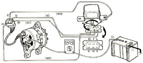 mazda 929 engine electrical circuit and charging system