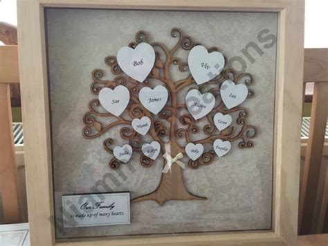 Handmade Family Tree Ideas - 25 best ideas about box frames on shadow