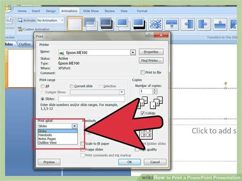 powerpoint tutorial printable printing powerpoint slides with notes how to print a