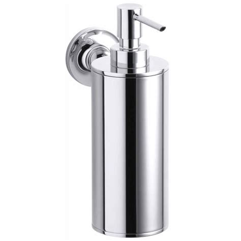 lotion dispenser shop kohler purist polished chrome soap and lotion