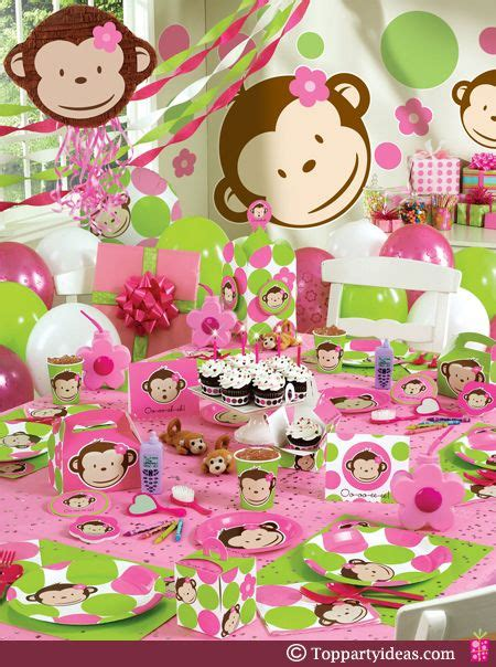 Pink Monkey Baby Shower Decorations by 1000 Images About Birthday On Birthday