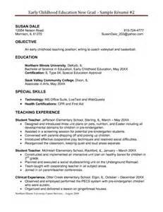 Educator resume samples early childhood education resume templates