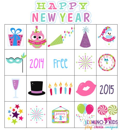 new year picture bingo bingo elemeno p