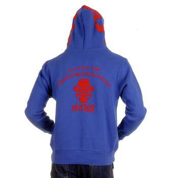 Hoodie Flock Martin Garry mens blue hooded sweatshirts by monkey clothing