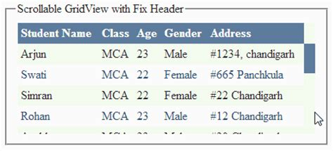 header design in asp net how to create jquery scrollable gridview with fix header