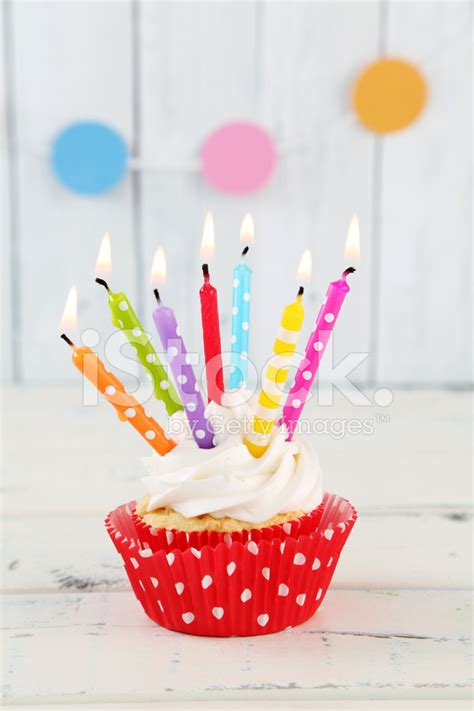 Candle Decoration At Home by Birthday Cupcake Stock Photos Freeimages Com
