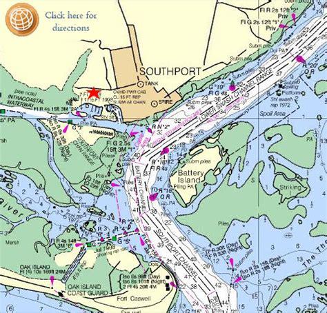 map of southport carolina marinas boatyards hotels slips in southport nc