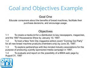 Business Objective Statement Examples Integrated Business Planning Process