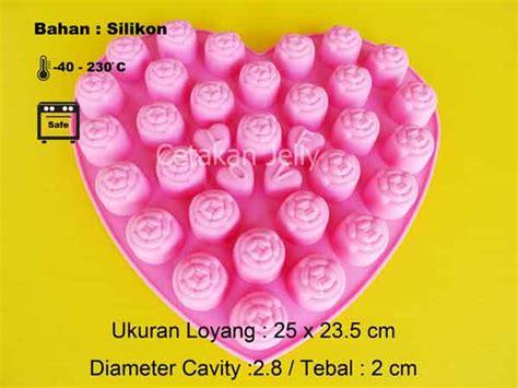 Cetakan Coklat Silikon Bunga Tipis Kancing Fondant cetakan silikon coklat puding roses with cetakan jelly cetakan jelly