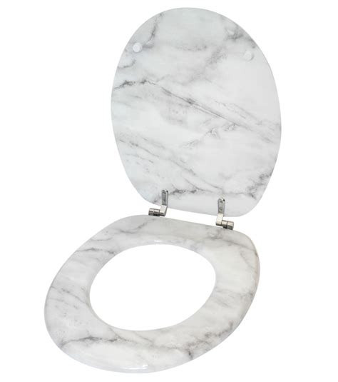 Toilet Seat Bright Marble