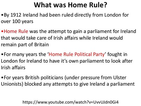 home rule and the parliamentary