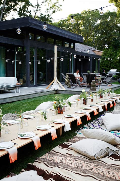 how to set up a backyard party 5 party themes to say goodbye to summer coco kelley