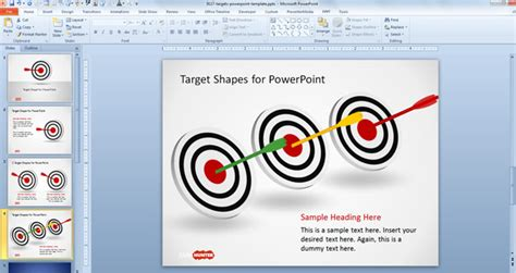 Free Goal Target Shapes For Powerpoint Free Powerpoint Free Powerpoint Shapes
