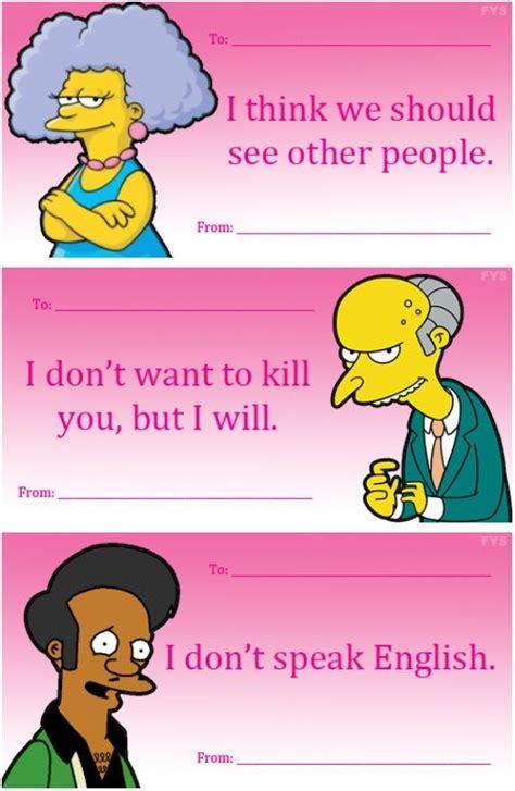 simpsons valentines cards simpsons valentines ha ha