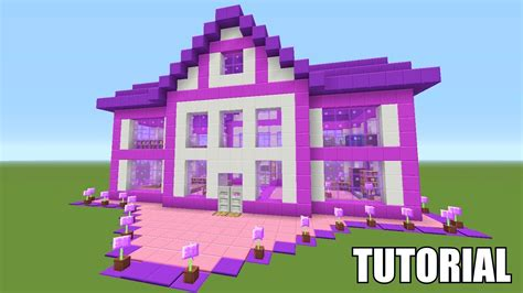 minecraft girl houses minecraft tutorial how to make a barbie dream house survival house ash 39 youtube