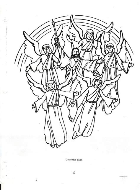 coloring page jesus coming again final sign jesus second coming craft 예수님 재림 작품 만들기