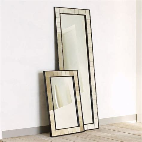 antique tiled floor mirror eclectic floor mirrors by