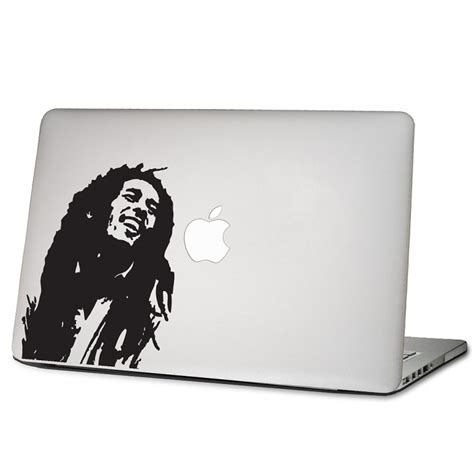 Apple Aufkleber Notebook by Bob Marley Laptop Macbook Sticker Aufkleber
