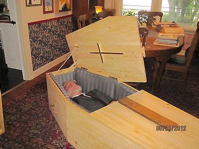 pine box casket coffin bookcase build
