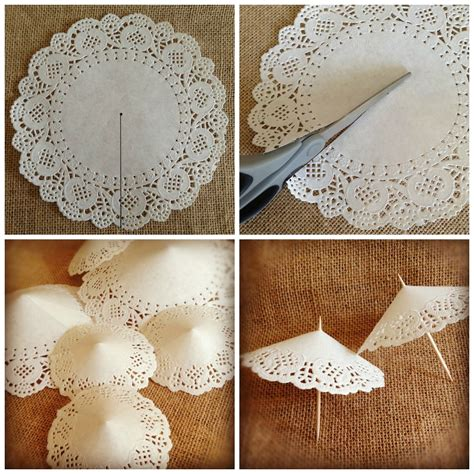 How To Make Paper Lace - parapluies d 233 coration pour g 226 teaux http www avecpassion