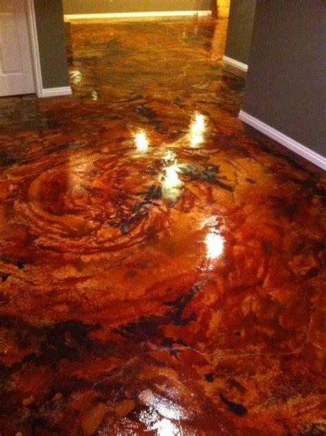 acid stain concrete blue   Google   http://floor design
