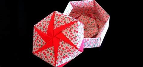 How To Make An Origami Box With Lid - how to make a hexagonal origami gift box 171 origami