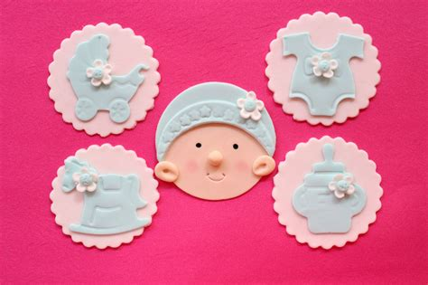Edible Cupcake Decorations Baby Shower by Baby Cupcake Toppers 12pcs Edible Baby Shower Fondant