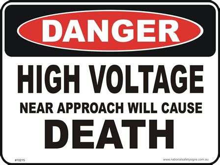 high voltage safety high voltage d10215 national safety signs
